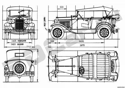 чертежи некоторых советских авто - статьи - Каталог статей - ретро авто